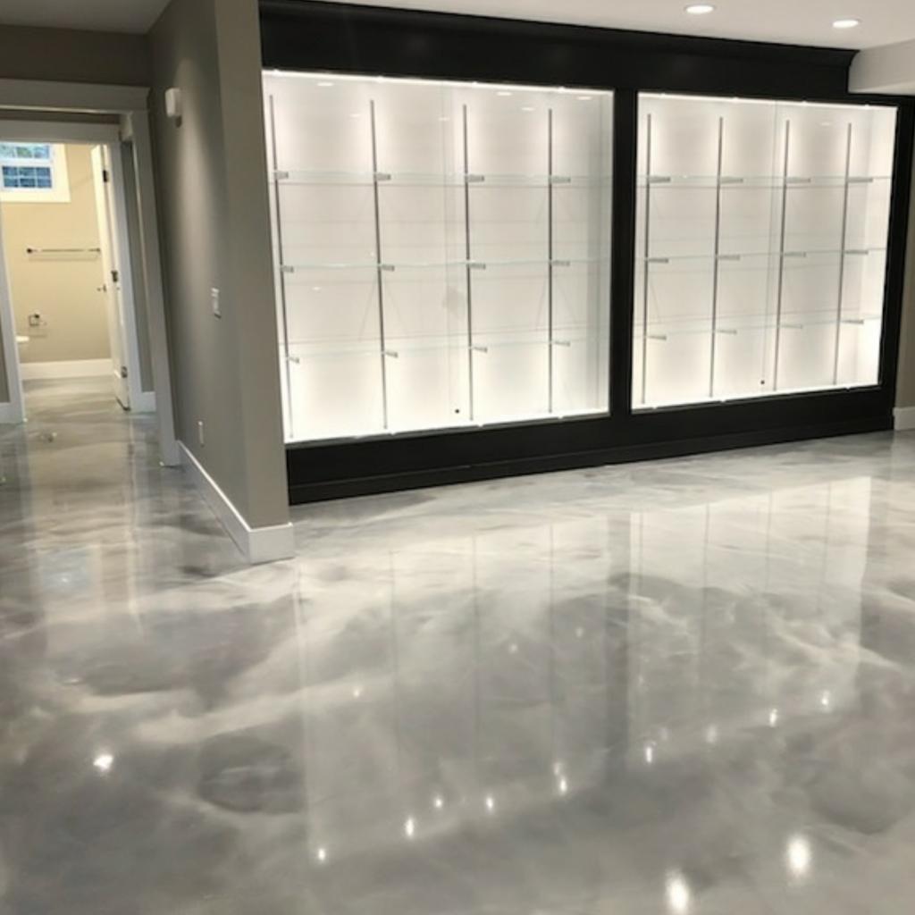 Titanium Metallic Floor - Calgary
