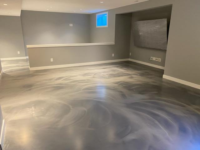 Metallic Epoxy Floor Calgary - Titanium